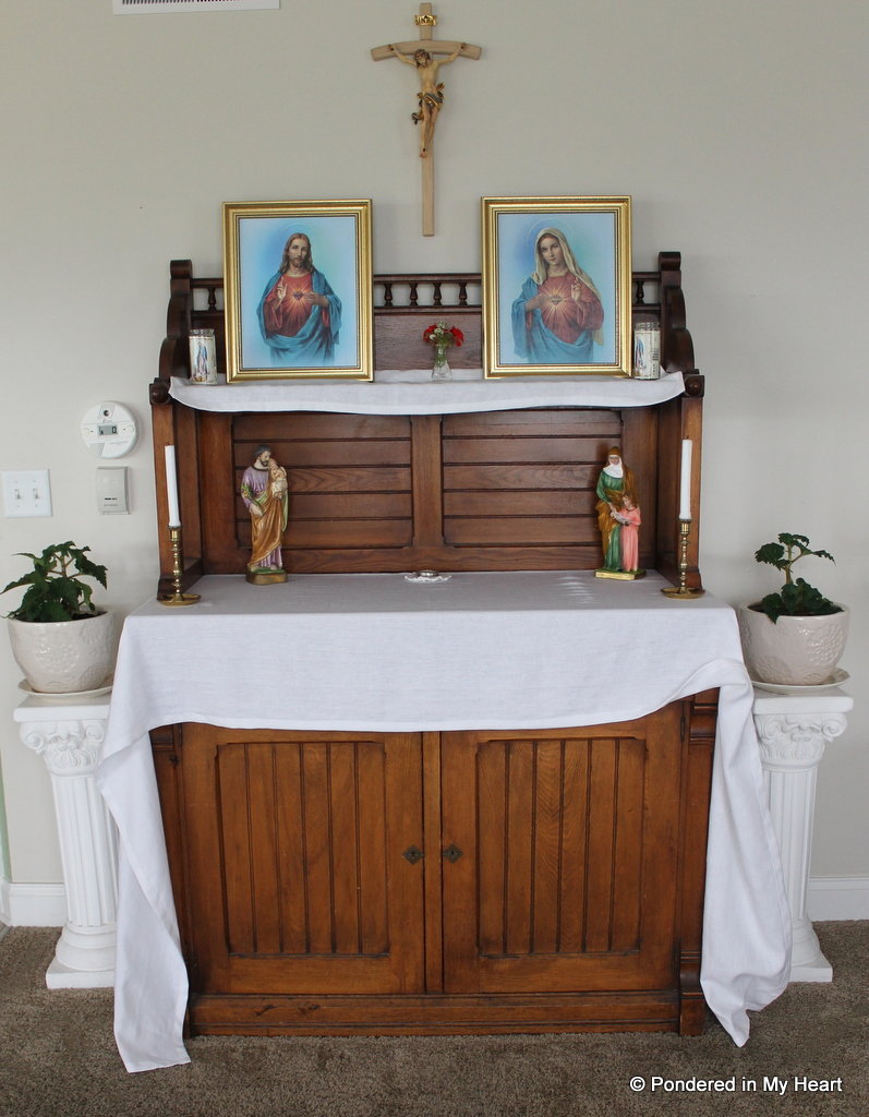 Sacred Heart Enthronement And Home Altar